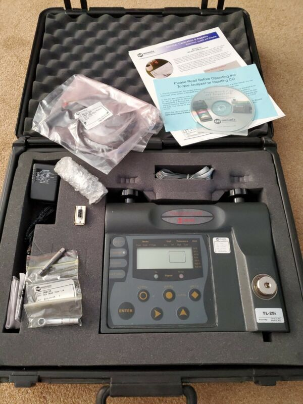 Unused Mountz Torque Analyzer TL-25i With Case And Accessories