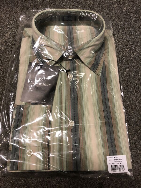 Matinique Stripe Shirt/Green - 2XL WAS NOW £25.00 (Unopened)