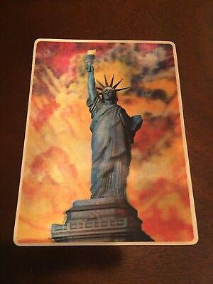 3 D Postcard  New York  Statue Of Liberty