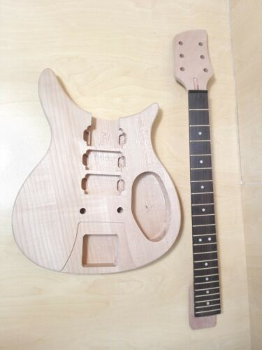 Solid Mahogany Body & Neck,NO-SOLDERING Electric Guitar DIY Kit,Set-Neck.DKERK