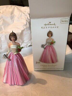 Hallmark Keepsake Campus Sweetheart Barbie Christmas Ornament 2011