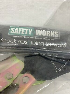 Safety Works Manual Rope Grab With Shock Absorbing Lanyard.
