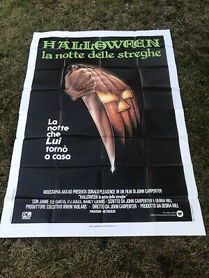 Halloween 1978 Original Italian 2 Panel Film Poster Great Image