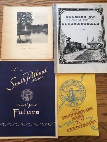 City of South Portland & Portland, Maine local history book lot of 4