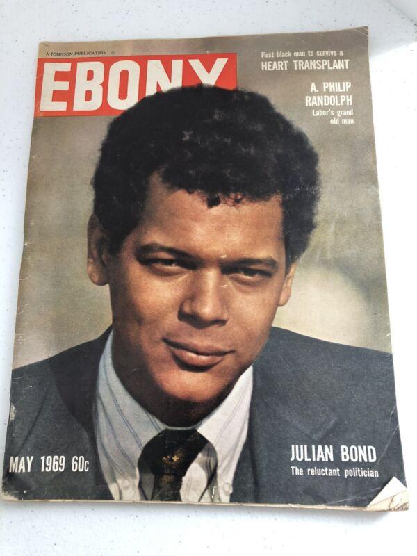 Ebony Magazine May 1969 Julian Bond Black History Equality Equal Rights Politics