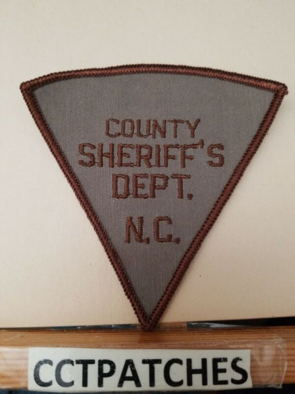 COUNTY, NORTH CAROLINA SHERIFF (POLICE) SHOULDER PATCH NC
