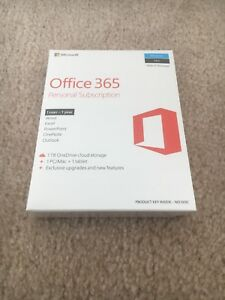 Microsoft office 365 Personal Subscription, 1 user 1 year