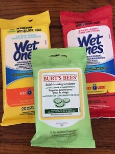 Three NEW packages of wet wipes