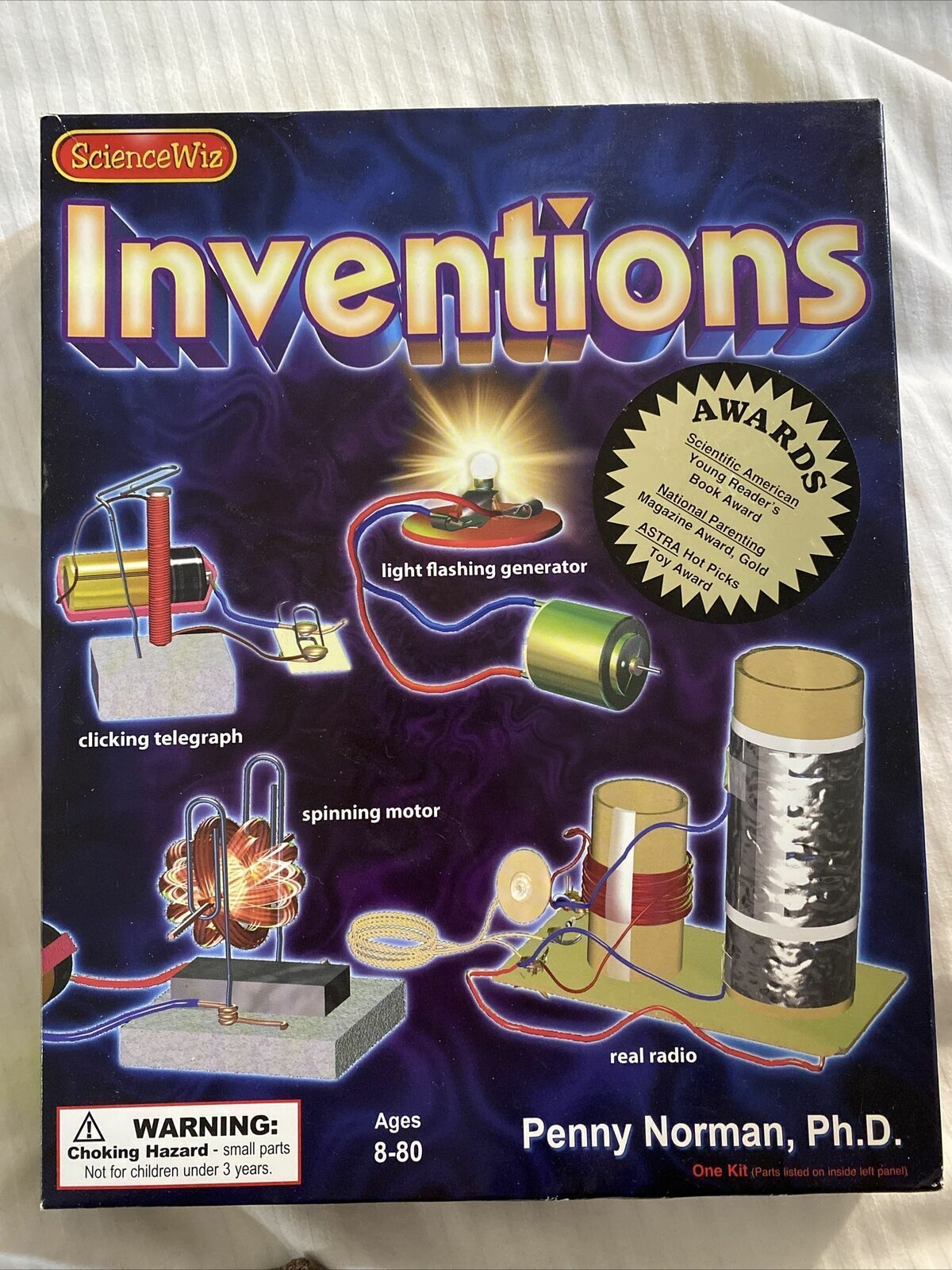 NIB Science Wiz Inventions Kit Home Education Build Radio Generator Telegraph
