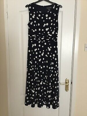 Designer Jessica Howard Dress Blue And White Size 10 Races Special Occasion