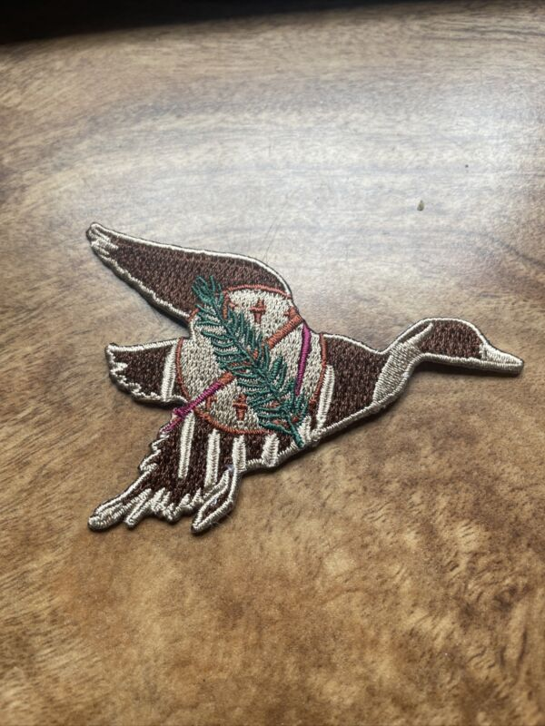 Oklahoma Duck Goose Waterfowl Hunter Hunting Iron On Patch Trucker Hat OK Flag