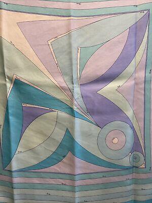 Emilio Pucci Vintage Silk Scarf 34in. square