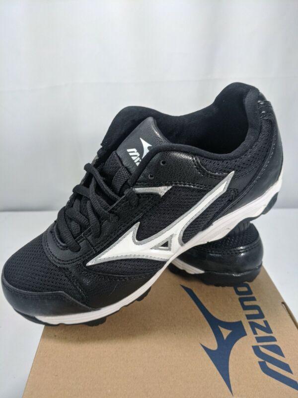 Mizuno Boys Baseball 9 Spike Franchise 6 Black White Cleats Size 2 youth