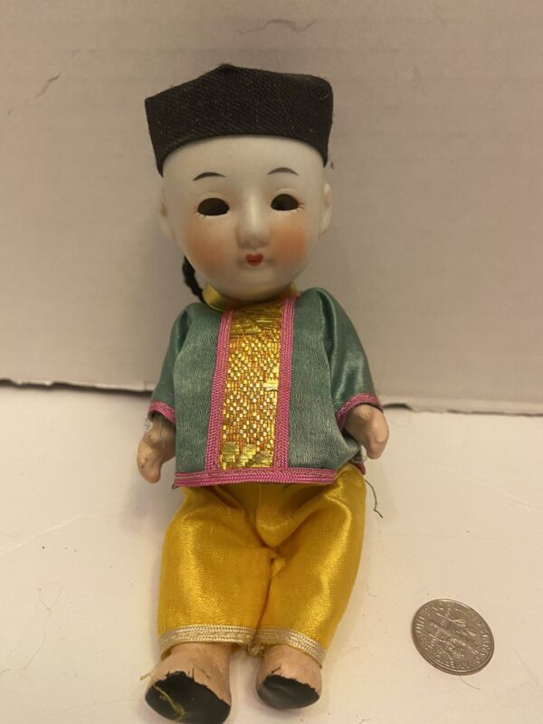 Vintage Porcelain Chinese Doll From Europe