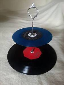 Vinyl Record Cup cake Stand 2/3 Tier for Retro Party or Wedding Birdwood Adelaide Hills Preview