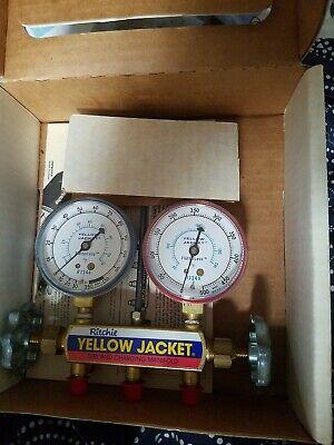 New Yellow Jacket Manifold Gauges 41312 R-134a R-404a R-507