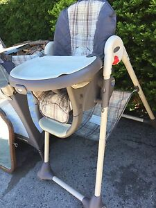 Greco highchair and pack and play