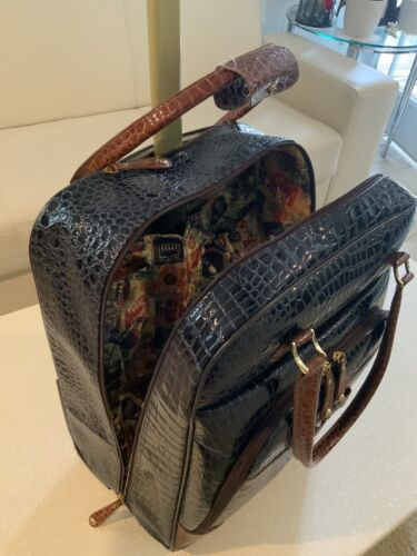 Samantha Brown 2 Piece Ombre Croco-Embossed Med Small Spinner BAG PEACOCK - $150.00