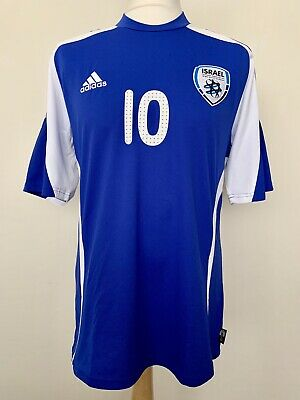 Israel 2008-2010 home Barda match worn football shirt jersey maillot camiseta image