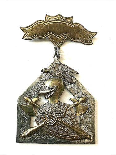 VTG  Knights Of Pythias Brass Silver Medal FCB Pin Badge 1874 - Lot 2