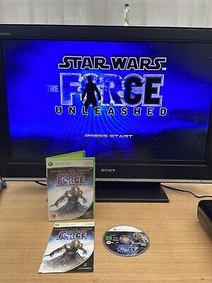 Xbox 360 games Star wars The force Unleashed Ultimate Sith edition Used