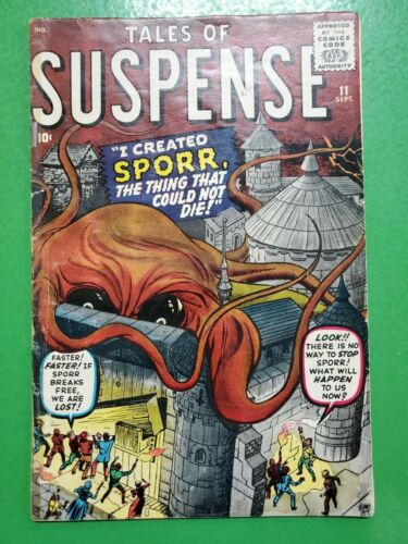 TALES OF SUSPENSE #11 SPORR The Thing that Could Not Die! 1960 ATLAS/MARVEL GD