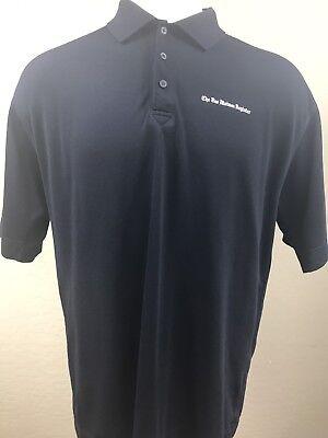 Iowas The Des Moines Register Black Rugby Polo Shirt Xl
