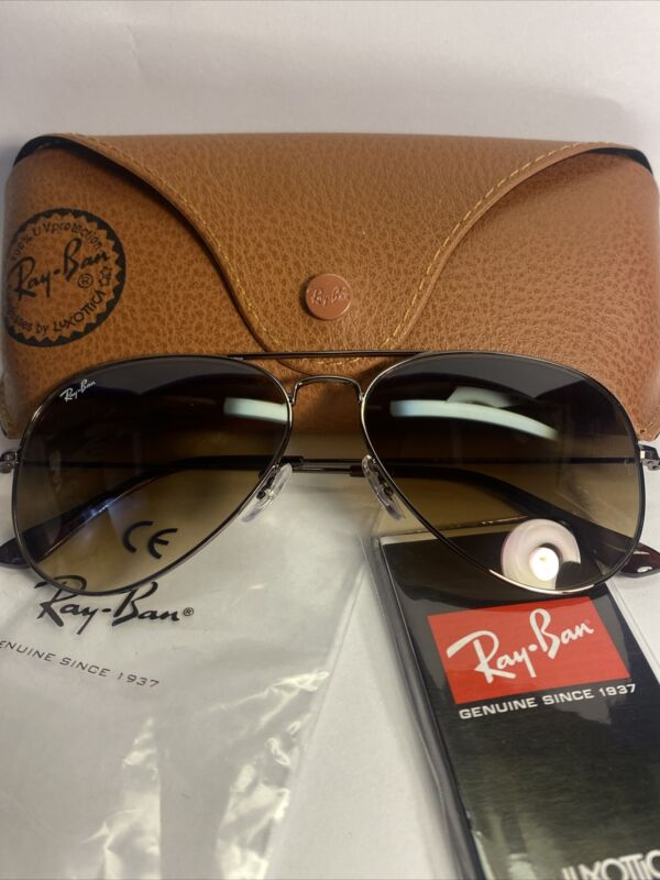 Ray-Ban aviator new sunglasses for unisex Copper/brown Gradient /  RB3025 58 mm