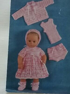 """KNITTING PATTERN for DOLLS CLOTHES 14"""" inch DOLLS.DK 1690"""
