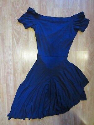 Half Open Back Dress - WOMEN H&M BLUE STRETCH FLOWY BOTTOM SEXY OPEN HALF BACK DRESS SIZE 8 US / 38 EUR