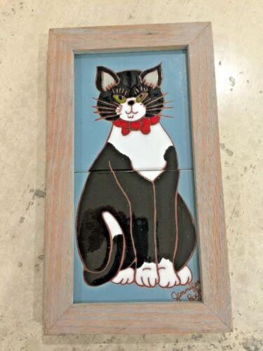 Jennifer Roche Black Cat Tile Picture