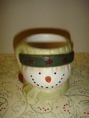 Yankee Candle Snowman Face~Head Tea-Light~Votive Holder