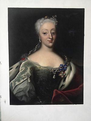 Ölgemälde Königin Sophie Magdalene, Porträt von Johann Salomon du Wahl 60 x 80cm