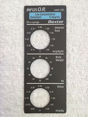 Baxter Bard Infus O.r. Smart Label Low Concentration Sufentanil Label L01