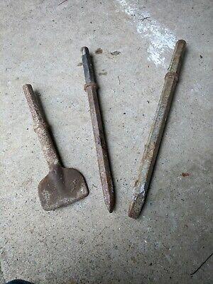 1-18 Jack Hammer Chisel Bit Set Of 3 Essential Tools