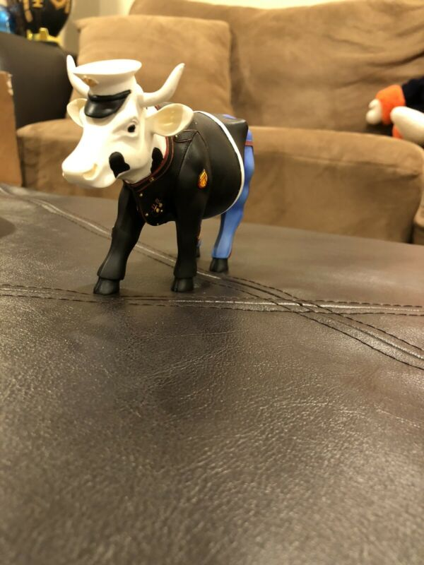 Cow Parade Figurine - The Few, The Proud, The Moorines #7295 Used/No box