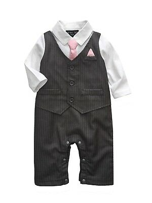 Baby Boy Formal*Party*Wedding*Tuxedo Waistcoat 1pc Pinstripe Outfit Free P+P](Party Boy Outfit)