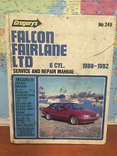 Gregorys falcon fairlane ltd 6 cyl Service and repair manual Cleveland Redland Area Preview