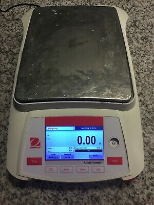 Ohaus Ax5202 Balance Scale With Power Adapter 5200g 0.01g Tested Excellent