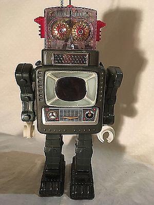 1950s Alps Television Spaceman Robot Works Great TV Robot Tin Japan