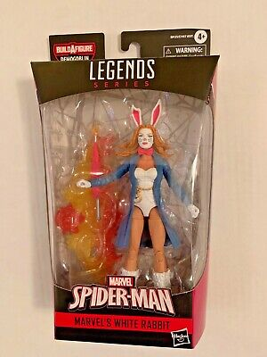 Marvel Legends: Spider-Man: White Rabbit - Demogoblin BAF - NEW