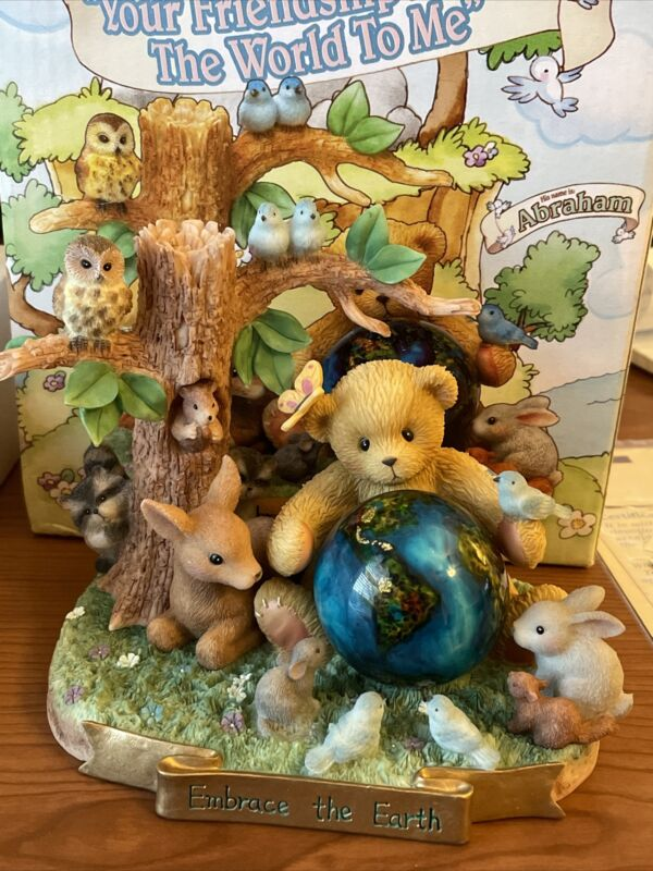 """Cherished Teddies Abraham """"Your Friendship Means The World To Me"""" #7068761 NIB"""