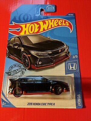 Hot Wheels 2018 Honda Civic Type R 81/250 Black Honda Series 2/5 2020