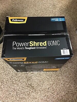 Fellowes Powershred 60mc 10 Sheet Micro-cut Personal Shredder 4921002