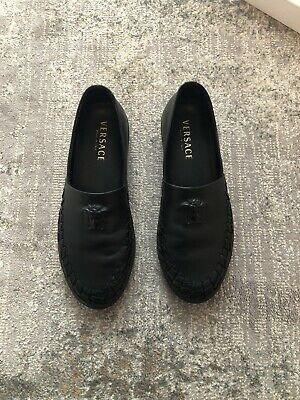Versace Mainline Embossed Leather Loafer