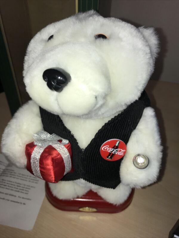 Coca-Cola Animation Collection Musical Holiday Christmas Polar Bear Coke w/Box