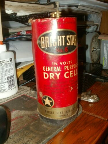 VINTAGE BRIGHT STAR NO.6 GENERAL PURPOSE DRY CELL 1 1/2 VOLTS