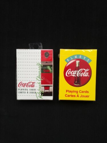 2 - Coca Cola New Sealed Playing Card Decks from Canada
