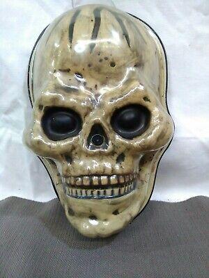 Halloween Talking Skeleton Head (Animated Halloween Prop Skeleton face head Talking Toy light up)
