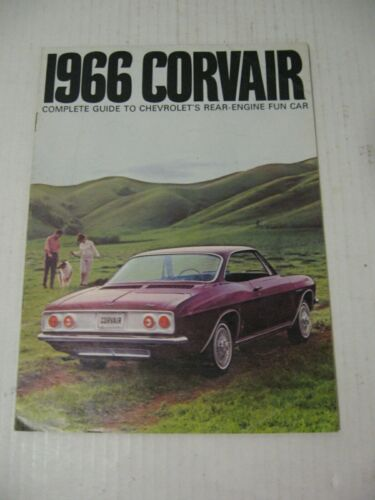 1966 Chevrolet Corvair Car Dealer Sales Brochure Catalog